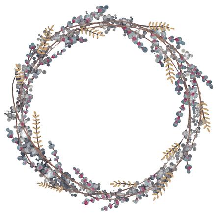 Krans hand getekende vector set. Bruiloft bloemenkransen. Elementen voor uitnodigingen, posters, wenskaarten en logo's