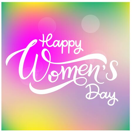 Happy Womens Day Greeting Cards. 8 March lettering. Banner for the International Womens Day Illustration