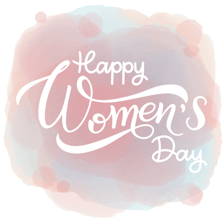 Happy Womens Day Greeting Card design in pastel color.