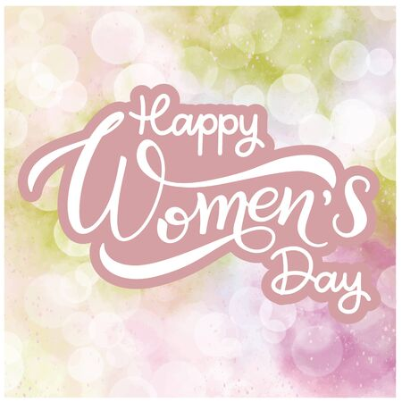 Happy Women's Day Greeting Cards. Banner for the International Women's Day Illustration