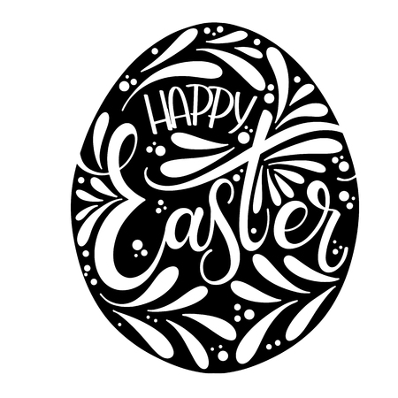 Happy Easter lettering. Hand written Easter phrases. Seasons Greetings