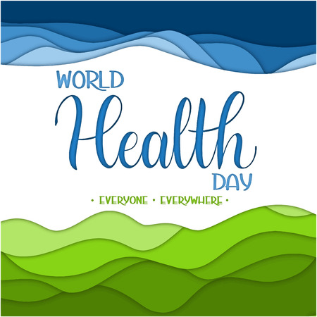 World Health Day Text. Hand Drawn Lettering. Typographical Dsign Ilustrace
