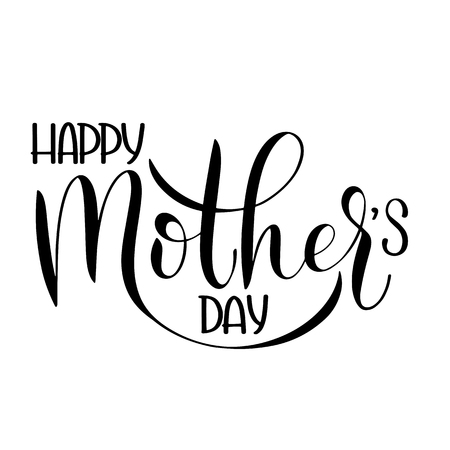Happy mother Day lettering. Greeting Card Design. Hand Drawn Text Stock Vector - 97834789