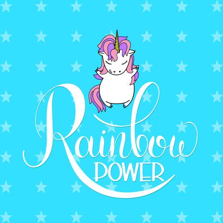 Cartoon unicorn image illustration