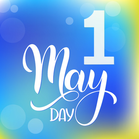 May is the month of flowers lettering. Elements for Seasons Greetings
