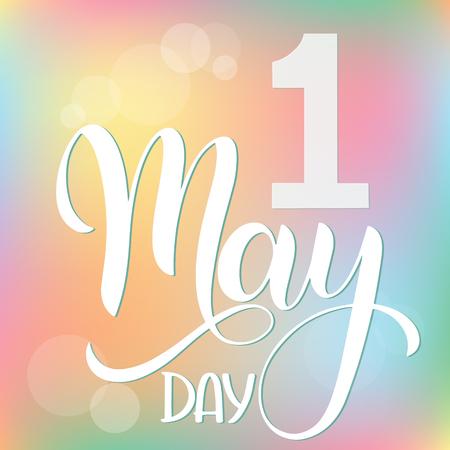 Ciao maggio lettering. Elementi per inviti, poster, biglietti di auguri. Auguri stagionali