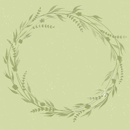 May Wreath. Elements for invitations, posters, greeting cards Seasons Greetings Illustration