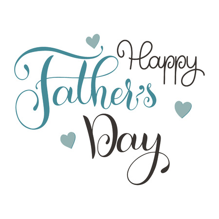 Happy Father Day lettering. Greeting Card Design. Hand Drawn Text Reklamní fotografie - 98713201