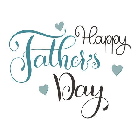 Lettrage de la fête des pères heureux. Conception de cartes de voeux. Texte dessiné à la main Banque d'images - 98713201