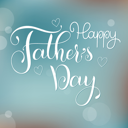 Happy Father Day lettering. Greeting Card Design. Hand Drawn Text
