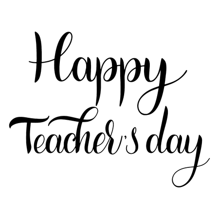 Happy Teacher Day lettering. Elements for invitations, posters, greeting cards. Seasons Greetings Banco de Imagens - 98772171
