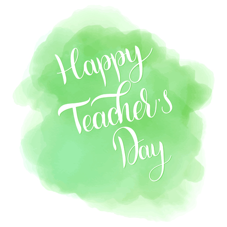 Happy Teacher Day lettering. Elements for invitations, posters, greeting cards. Seasons Greetings