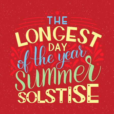 éléments de l & # 39 ; été du solstice d & # 39 ; été pour les Vecteurs