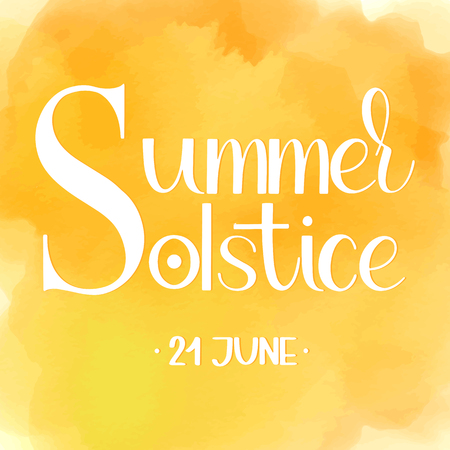Summer solstice lettering. Elements for invitations design. 스톡 콘텐츠 - 99617593