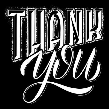 Thank you lettering. Design to greeting card, poster, t-shit
