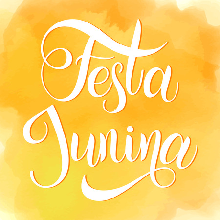 Midsummer lettering. Festa Junina Brazil Festival. Elements for invitations, posters greeting cards Иллюстрация