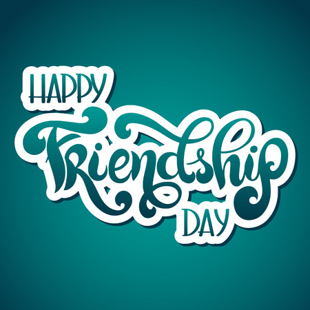 Friendship day hand drawn lettering. Vector elements for invitations, posters, greeting cards. T-shirt design