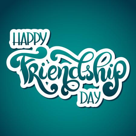 Journée de l'amitié lettrage dessiné à la main. Éléments vectoriels pour invitations, affiches, cartes de voeux. Conception de t-shirt Vecteurs