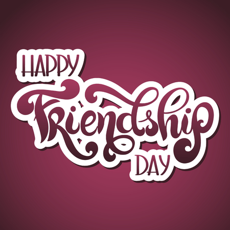 Friendship day hand drawn lettering.