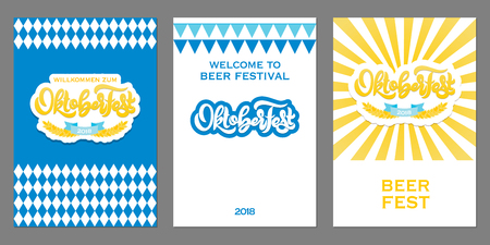 Oktoberfest icon. Beer festival banner.  イラスト・ベクター素材
