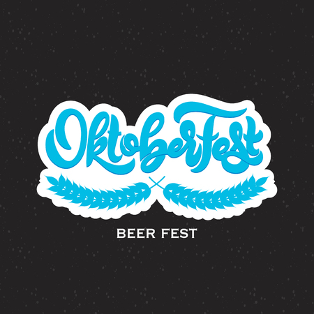 Oktoberfest icon. Beer festival banner. Ilustração