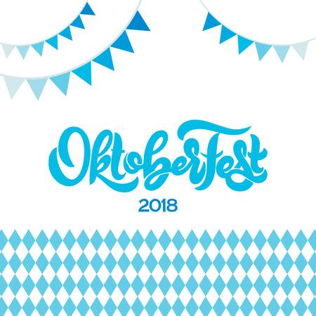 Oktoberfest icon. Beer festival banner. Illustration