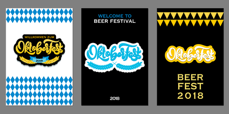 Oktoberfest icon. Beer festival banner. Çizim
