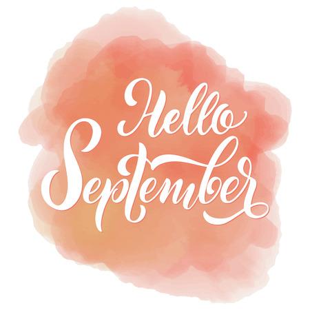 Hola letras de otoño. Elementos para invitaciones, carteles, tarjetas de felicitación. Felices Fiestas