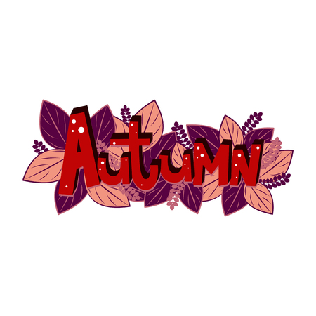 Autumn lettering. Elements for invitations, posters, greeting cards Seasons Greetings