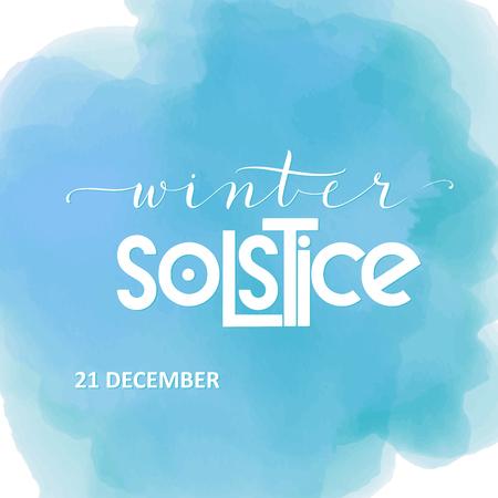 Lettrage du solstice d'hiver. Éléments pour invitations, affiches, cartes de vœux