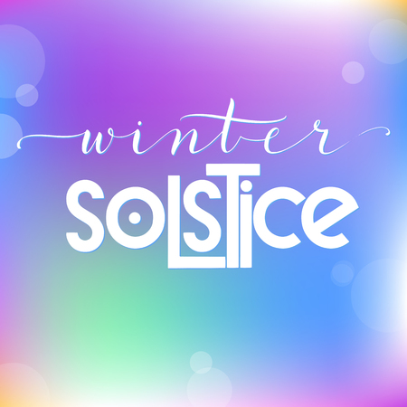Winter solstice lettering. Elements for invitations, posters, greeting cards