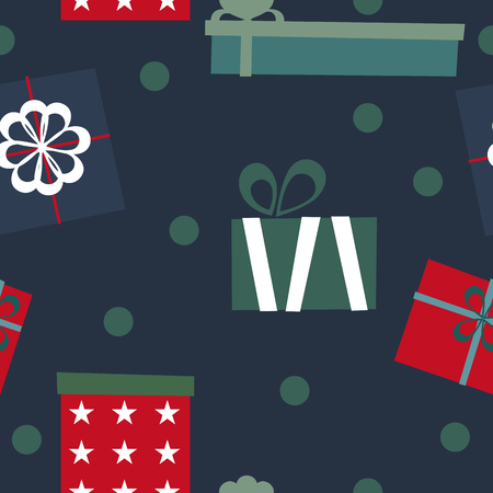 Gift boxes set. Seamless pattern. Vector elements for your design. Ilustrace