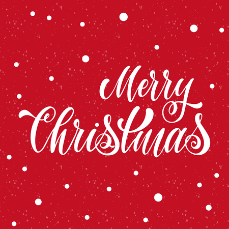 Merry Christmas Lettering. Elements for invitations, posters, greeting cards. T-shirt design. Seasons Greetings