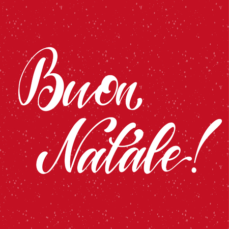 Merry Christmas Lettering on italian language. Elements for invitations, posters, greeting cards. T-shirt design. Seasons Greetings.