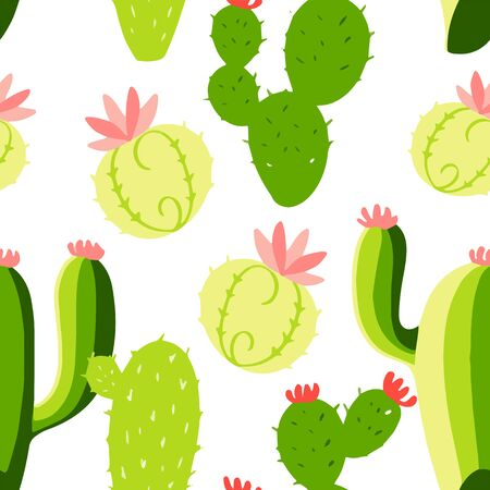 Seamless cactus pattern . Hand drawn illustration. Elements for greeting card, poster, banners. T-shirt, notebook and sticker design Stock fotó