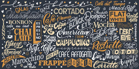 Coffee lettering. Design for print and poster 向量圖像