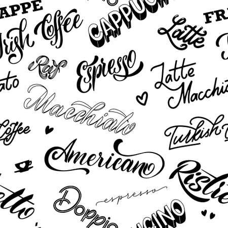 Coffee lettering. Design for posters and prints.