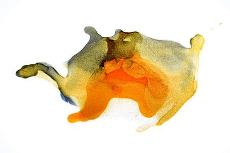 Watercolor splash. Alcohol Ink gold Texture. Abstract colorful background, wallpaper. Paint marble texture.