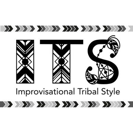 Tribal dance style name written by ethnic letters. Hand drawn vector design for banners, card, poster, flyer and party invitations
