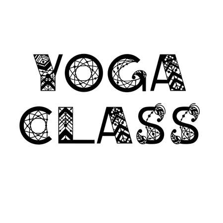 Hand written text with popular yoga quotes. Vector design for banners, card, poster, flyer and party invitations