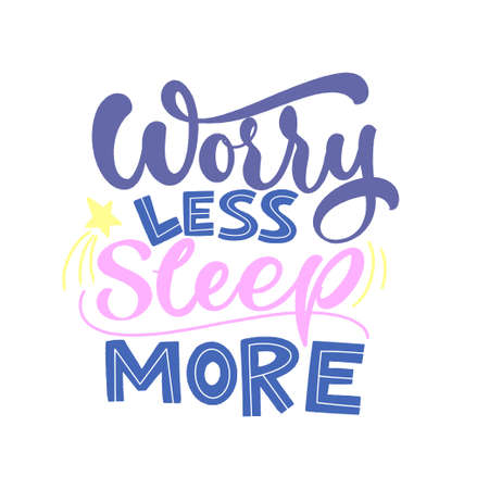 Funny sleep and good night quotes. Vector design elements for t-shirts, pillow, posters, cards, stickers and pajama