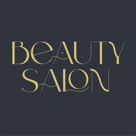 Beauty salon logo. Fashion and beauty quotes. Vector illustration. Typography for banner, poster or clothing design.
