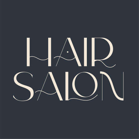 Hair salon logo. Fashion and beauty quotes. Vector illustration. Typography for banner, poster or clothing design.