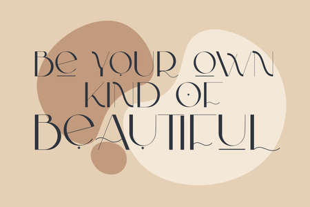 Skin care and love yourself positive quotes. Woman awareness. Vector illustration for beauty salon, medical centre.