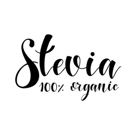 Stevia Organic food label. Vector elements for organic, bio, ecology natural design
