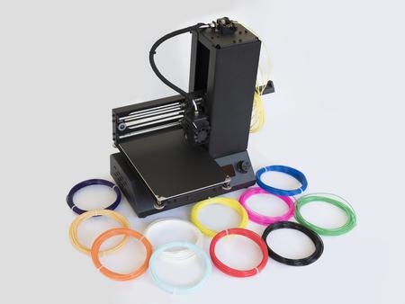 Desktop 3D printer with plastic PLA filament