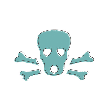 decease: Ecology and Environment icon of skull for template website. Environmental protection and pollution gas-mask sign in thin line design