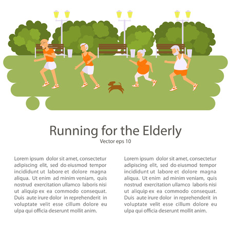 retiree: Elderly people doing exercises. Healthy lifestyle, active lifestyle retiree. Sport for grandparents, elder Race for Seniors.