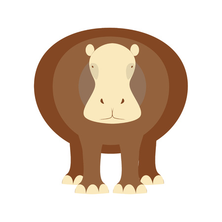 behemoth: African animal element and icon. Illustration of hippopotamus. Illustration