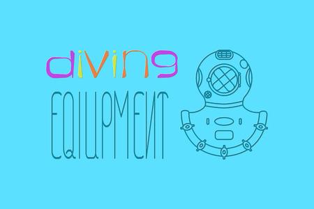 Diving equipment illustration Illustration
